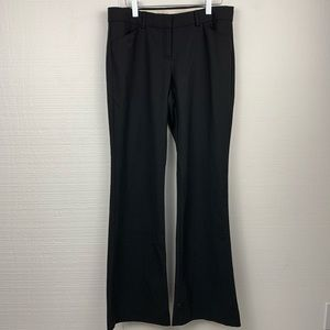 Theory Black Wool Blend Bootcut Dress Pants